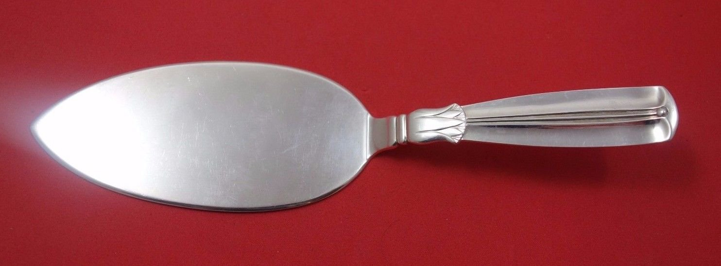 """Lotus by W and S Sorensen Sterling Silver Pastry Server All Sterling FH 7 1/2"""""""