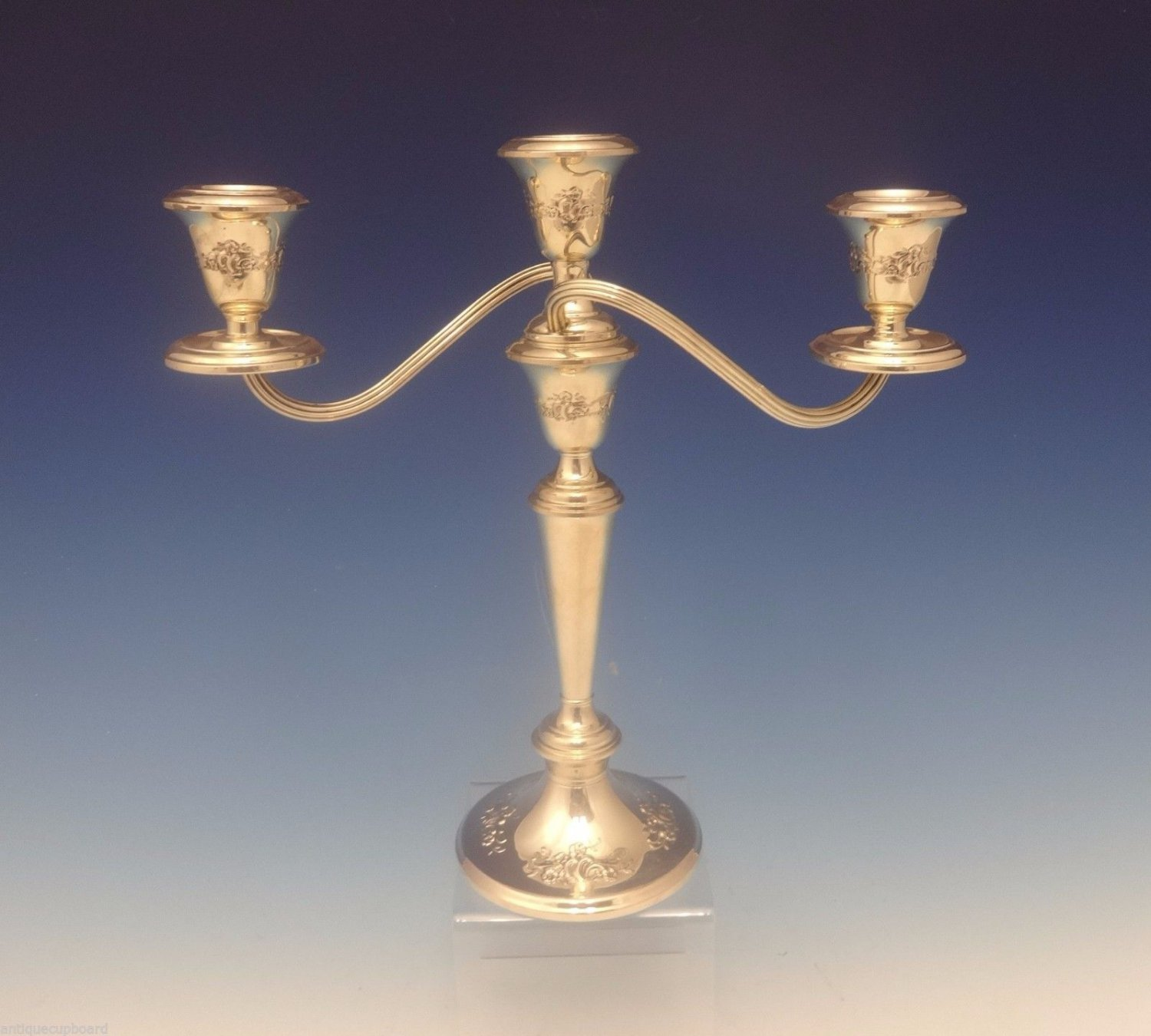 "Buttercup by Gorham Sterling Silver Candelabra 3-Light 11 3/4"" X 11 1/2"" (#0309)"