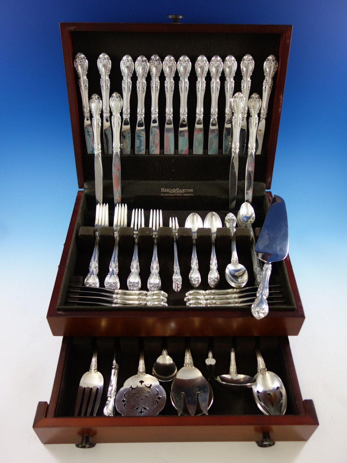 Melrose by Gorham Sterling Silver Flatware Set 8 Service Place Size 83 pieces