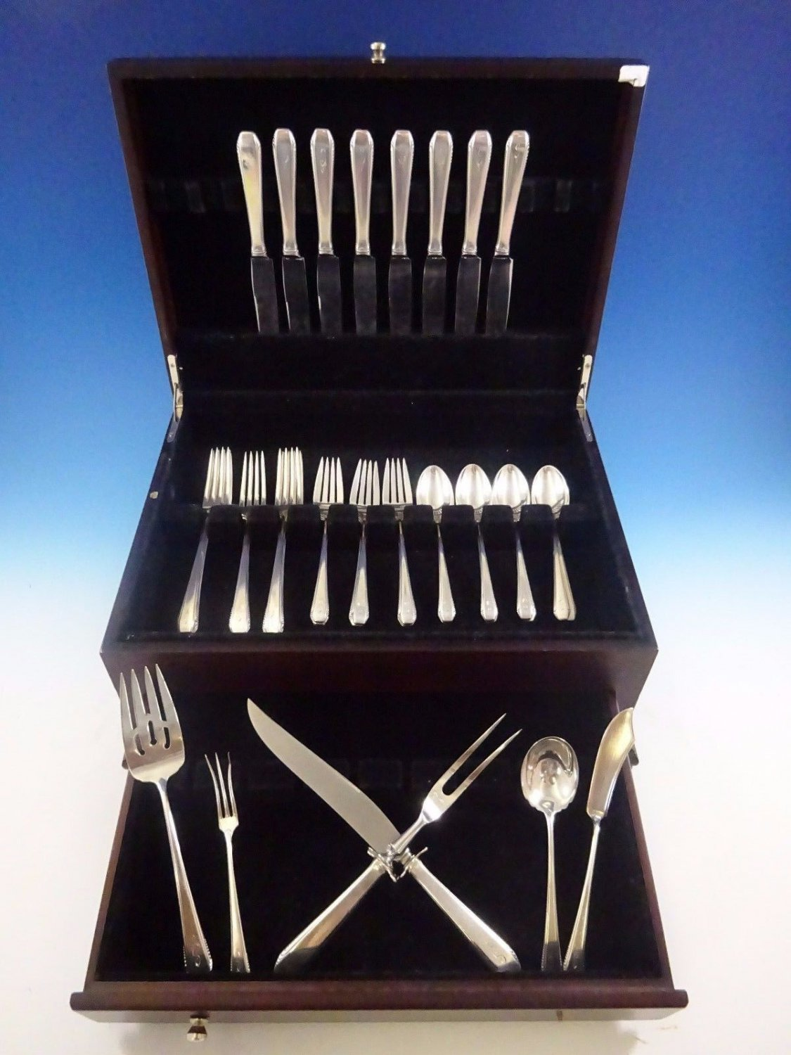 Cascade by Towle Sterling Silver Flatware Service For 8 Set 38 Pieces