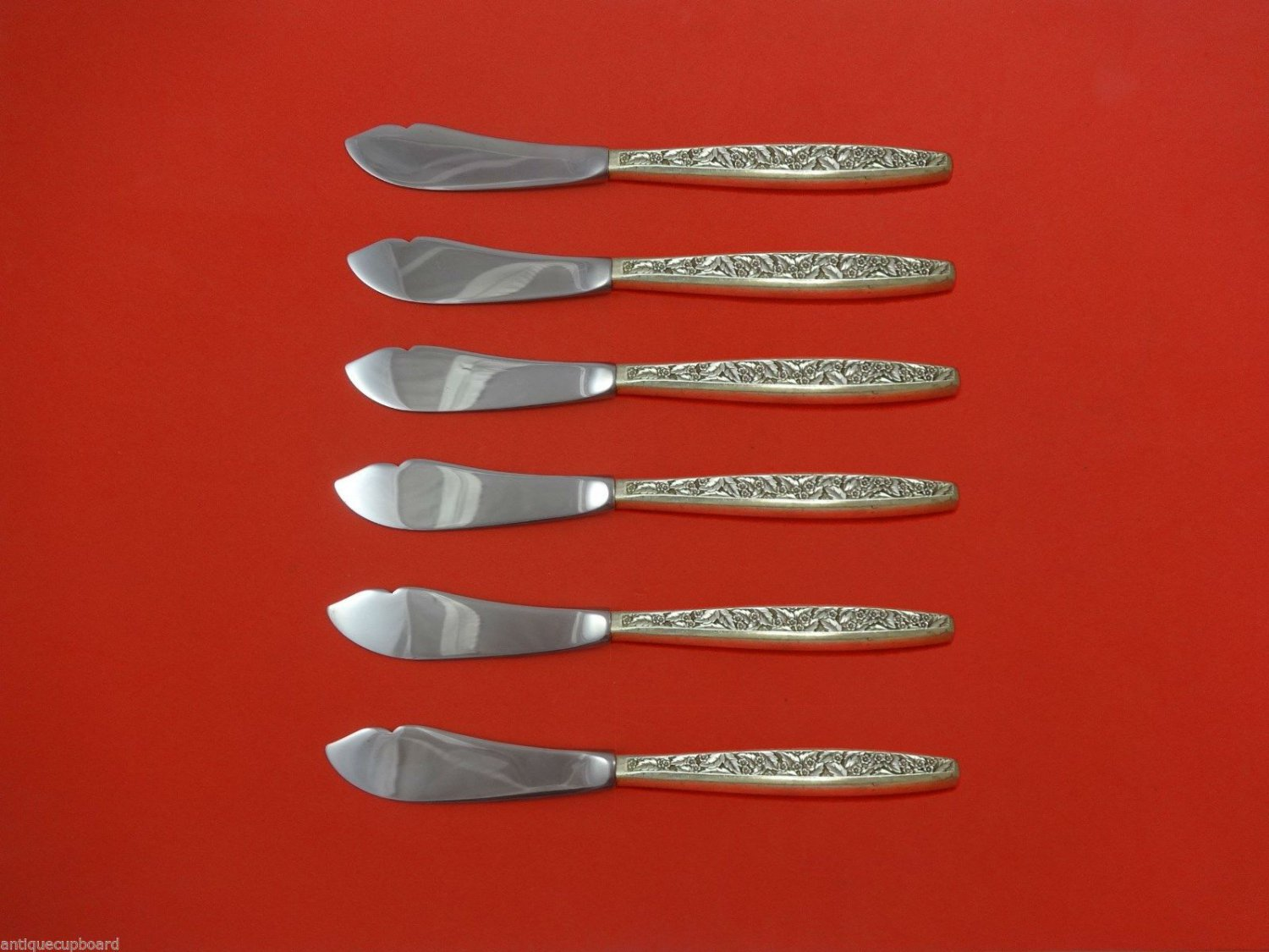 Valencia by International Sterling Silver Trout Knife Set 6pc. Custom 7 1/2""
