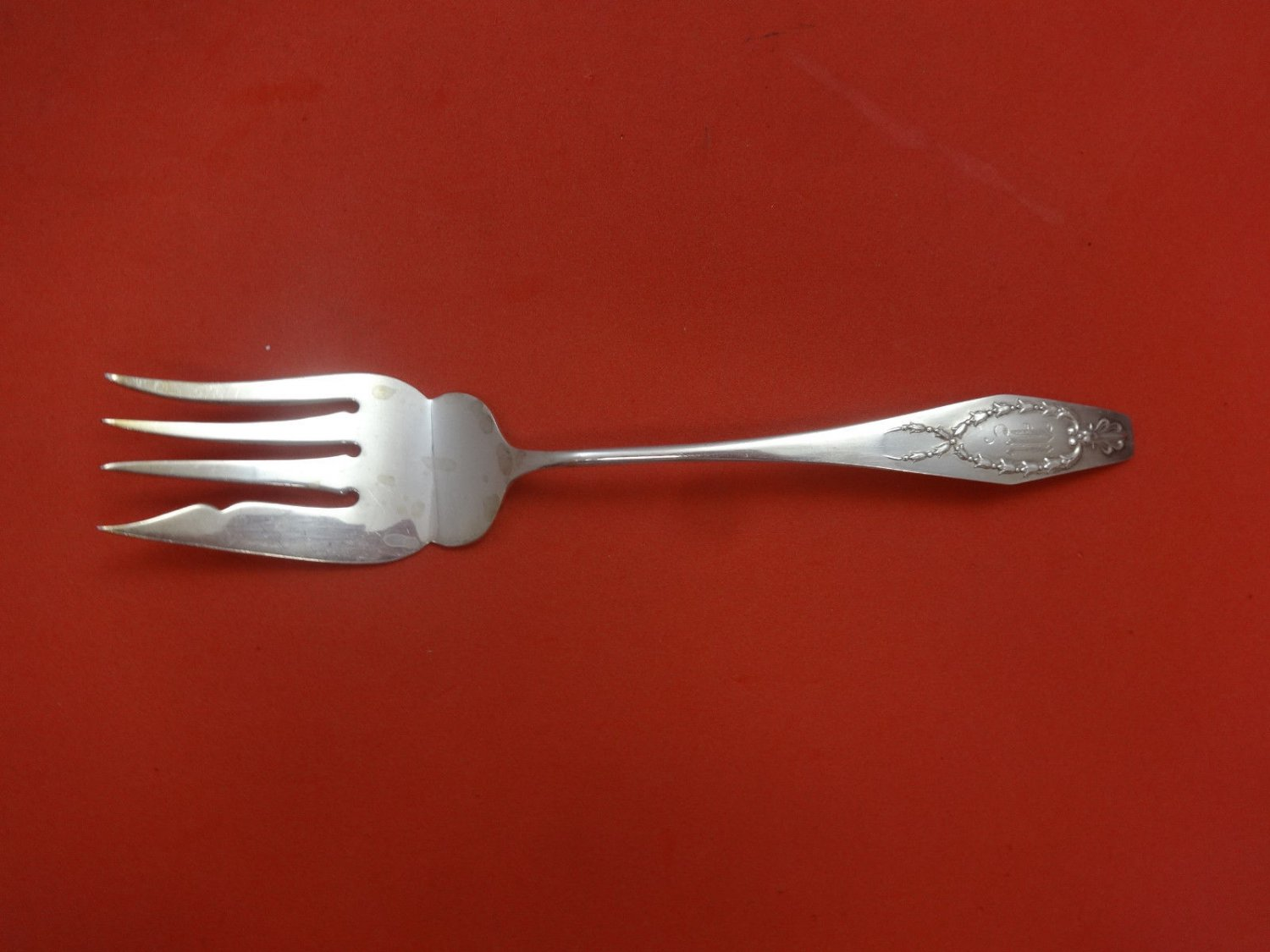 """Wreath by Gorham Sterling Silver Cold Meat Fork 7 1/4"""""""