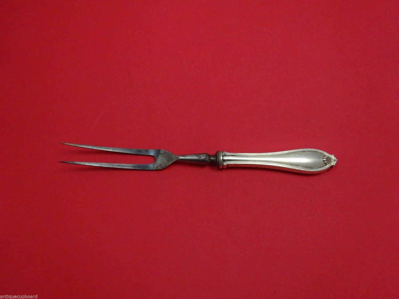 "Margaret New by International Sterling Silver Steak Carving Fork 8 3/4"""