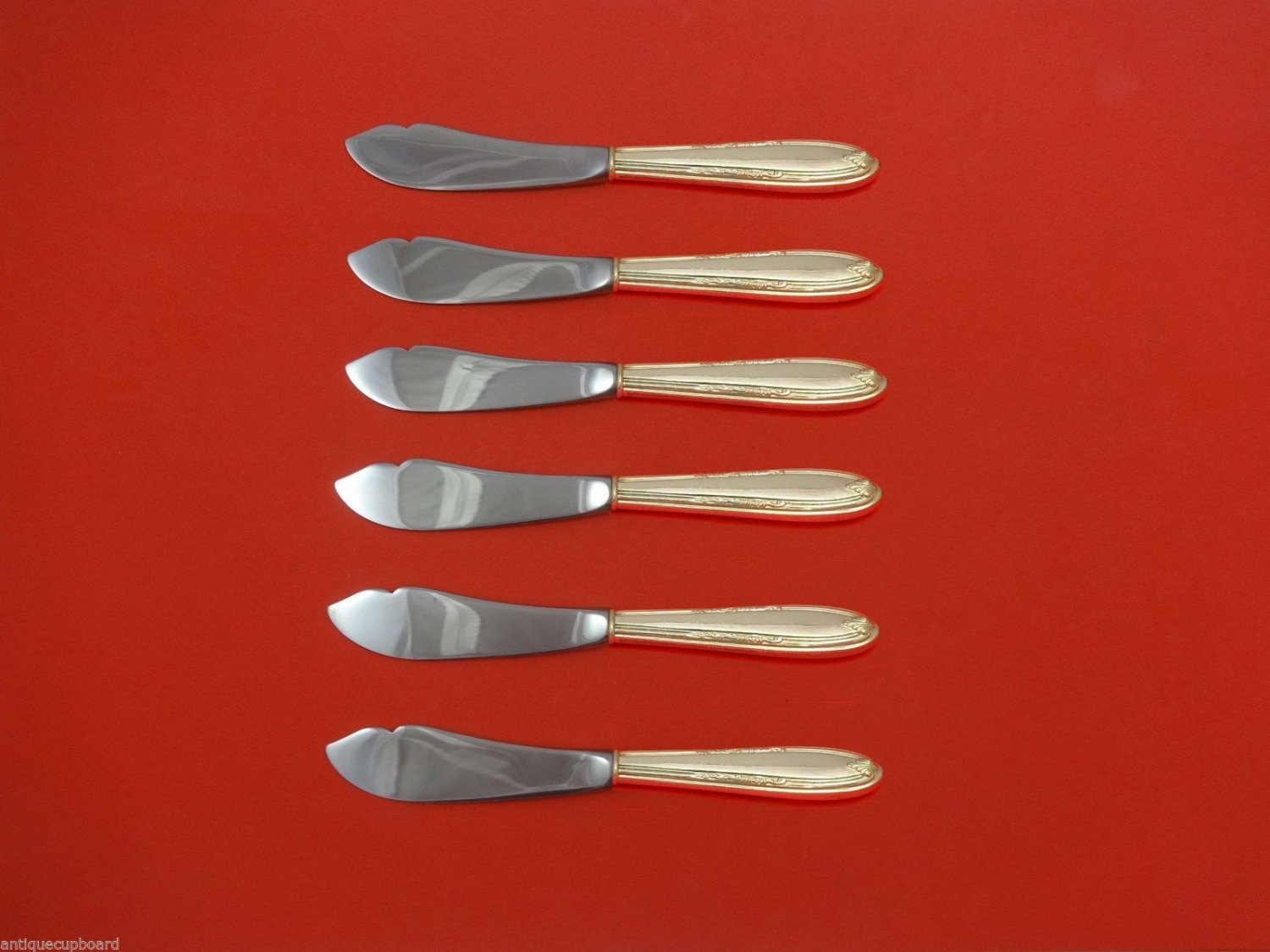"""Leonore by Manchester Sterling Silver Trout Knife Set 6pc. HHWS  Custom 7 1/2"""""""