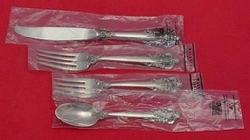 Grande Baroque by Wallace Sterling Silver Regular Setting(s) 4pc New