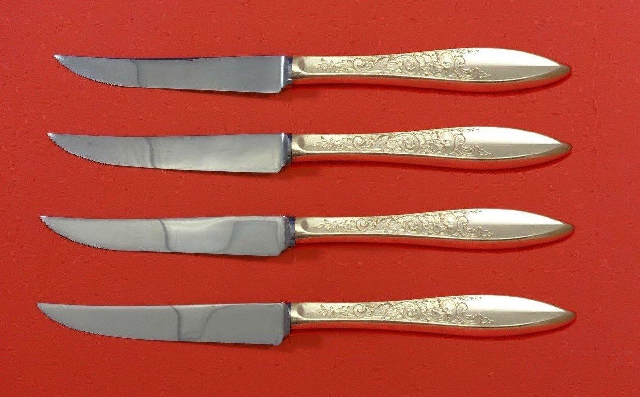 "White Paisley by Gorham Sterling Silver Steak Knife Set 4pc HHWS  Custom 8 1/2"""