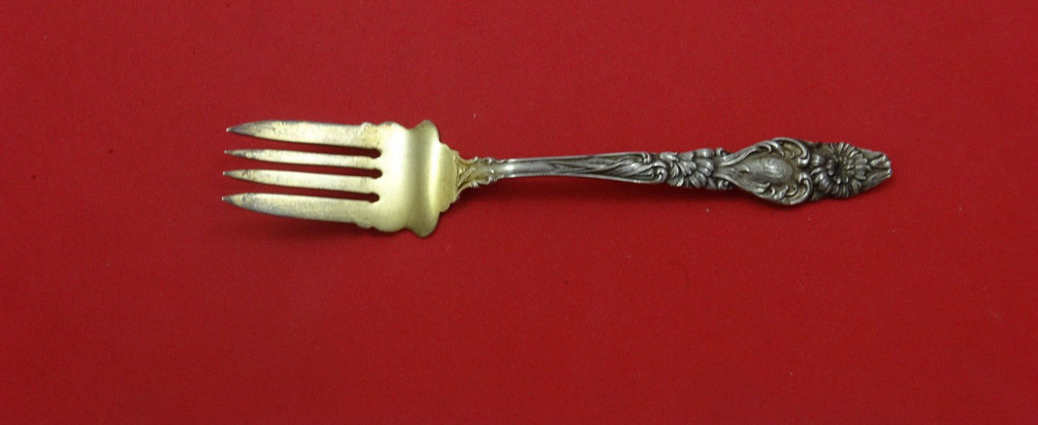 Mckinley by Fessenden Sterling Silver Salad Fork Goldwashed 5 1/2""