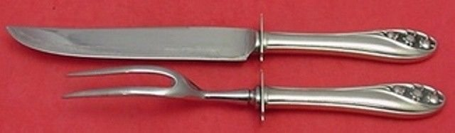 """Lily of the Valley by Gorham Sterling Silver Steak Carving Set 2pc 10 5/8"""""""