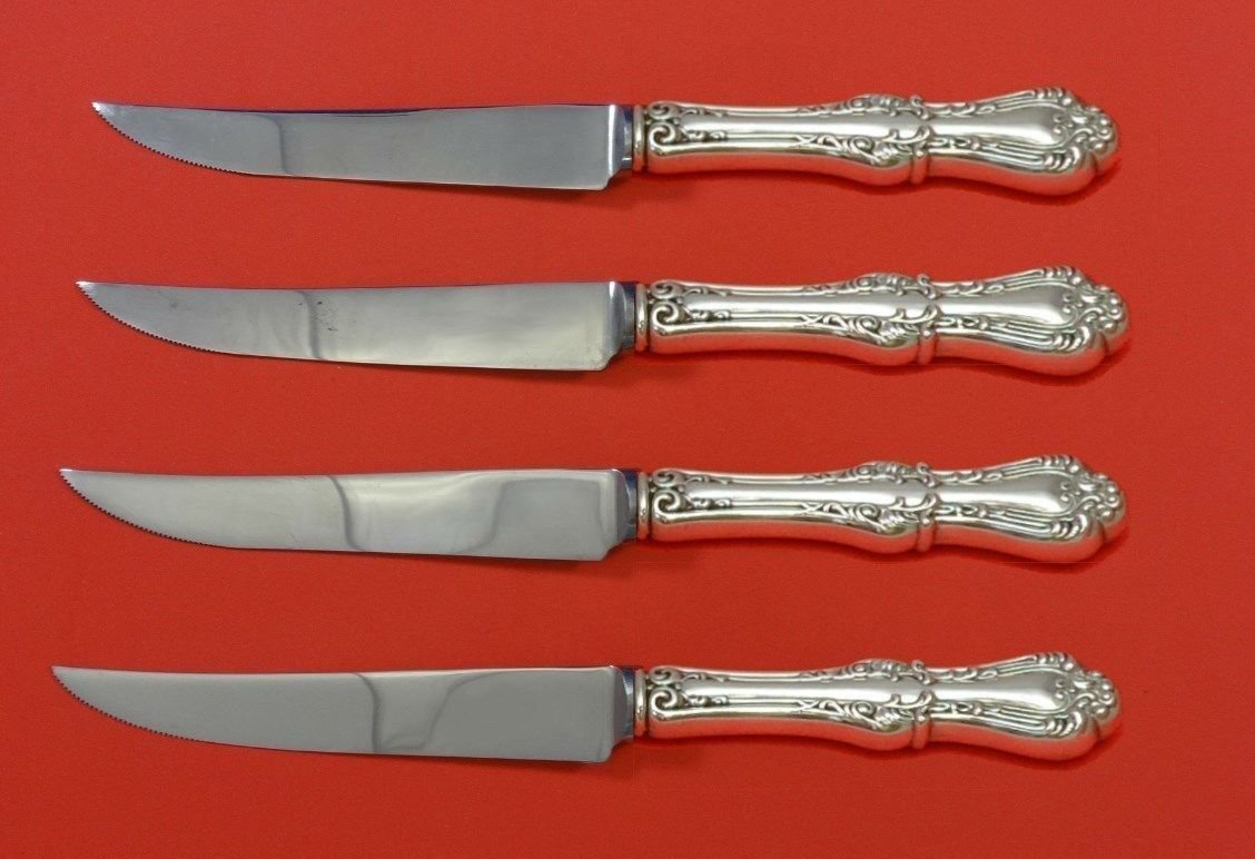 "Countess by Frank Smith Sterling Silver Steak Knife Set 4pc HHWS  Custom 8 1/2"""