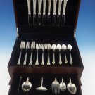 Edgemont Gold by Gorham Sterling Silver Flatware Set 8 Service 38 Pieces Dinner