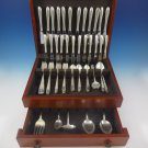Cynthia Engraved by Kirk Sterling Silver Flatware Service For 12 Set 77 Pieces