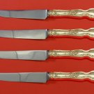 La Reine by Wallace Sterling Silver Steak Knife Set 4pc HHWS  Custom Made 8 1/2""