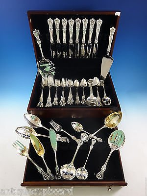 Old Colonial by Towle Sterling Silver Flatware Set For 8 Service 69 Pcs Dinner
