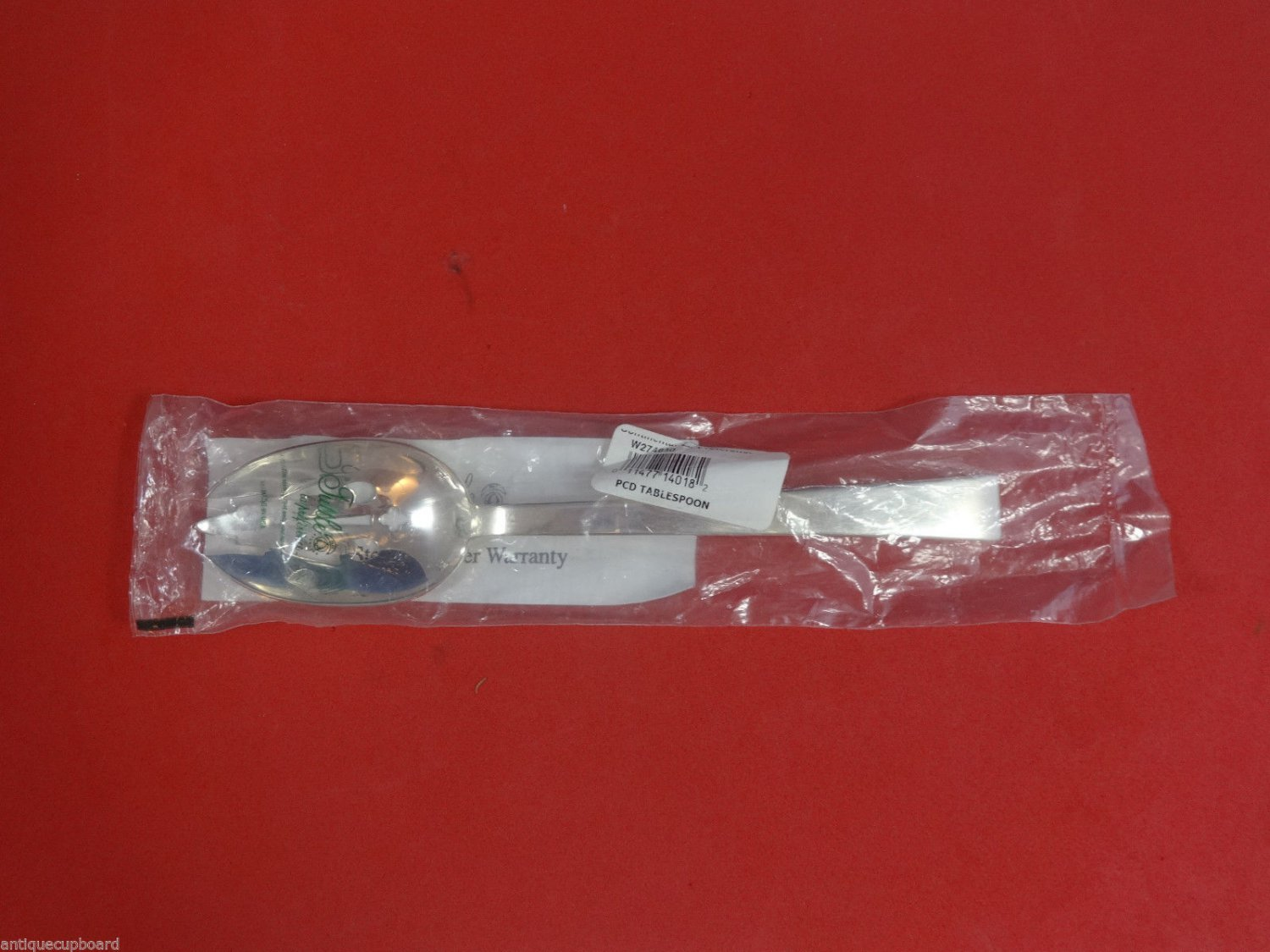 """Continental by Tuttle Sterling Silver Pierced Serving Spoon 8 1/2"""" New Unused"""