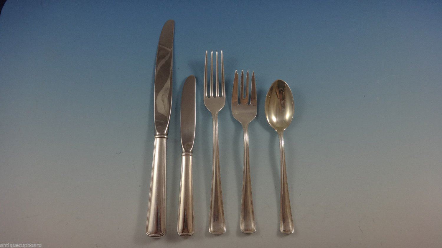 Compton Thread by Blackinton Towle Sterling Silver Flatware Set For 12 Service