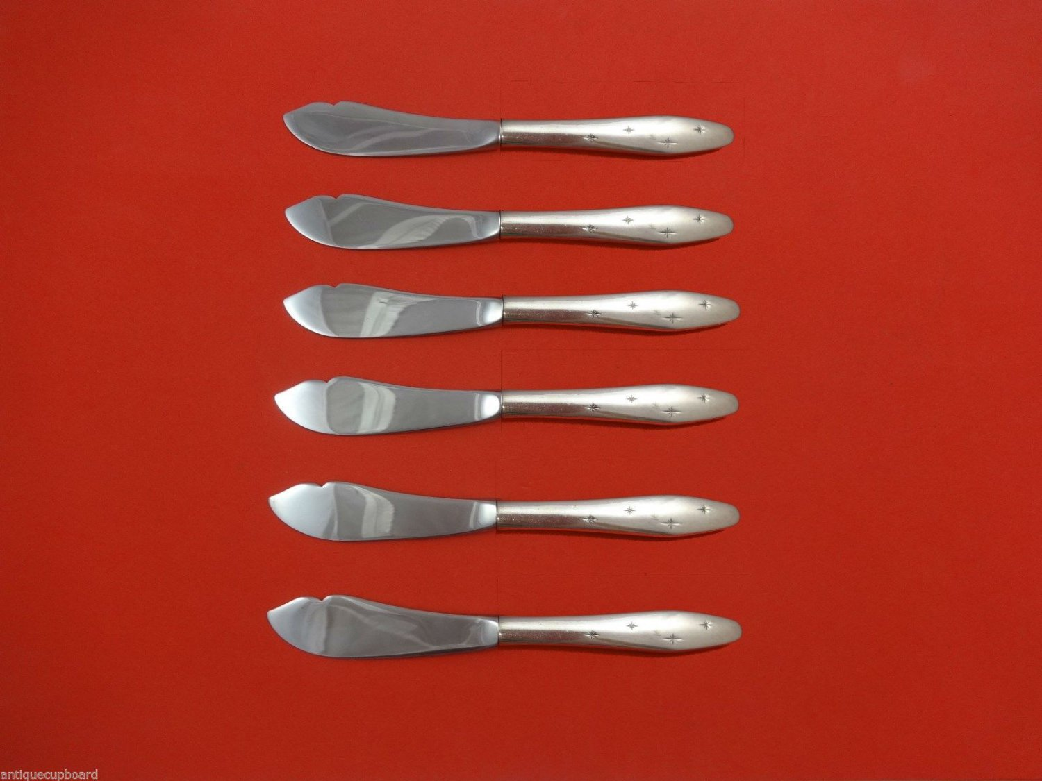 """Dawn Star by Wallace Sterling Silver Trout Knife Set 6pc. HHWS  Custom 7 1/2"""""""