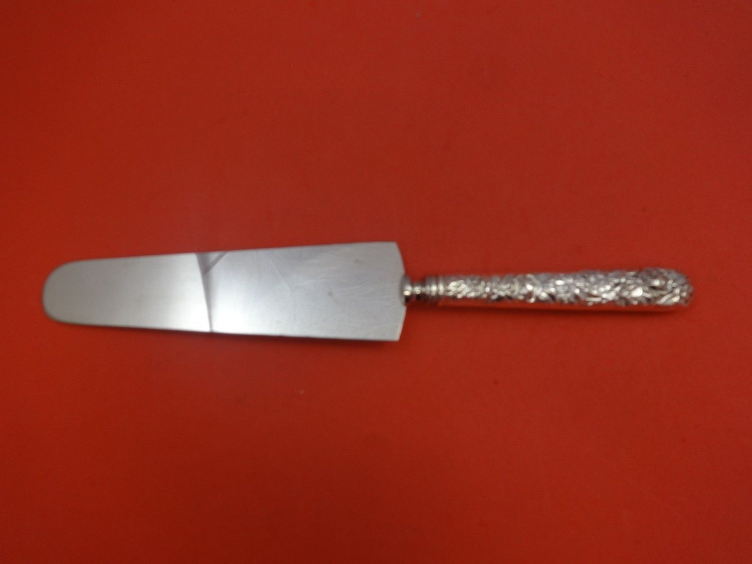 """Narcissus by National Sterling Silver Cake Server Narrow Blade 10 1/8"""""""