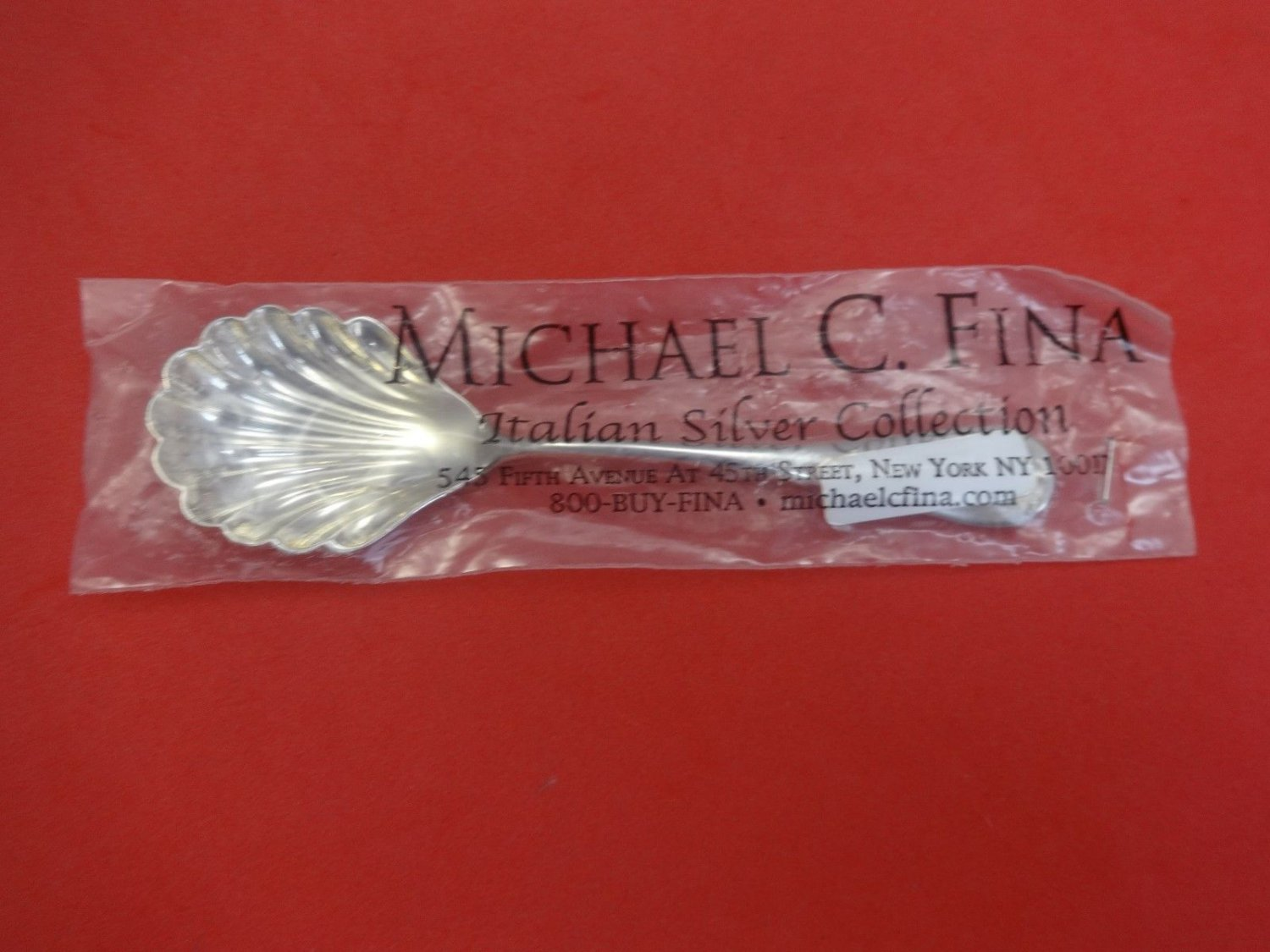 "Medallion by Cassetti Sterling Silver Sugar Spoon Shell 6 1/4"" New"