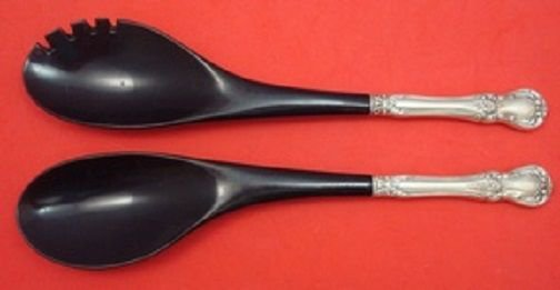 Old Master by Towle Sterling Silver Salad Serving Set w/Ebony 2pc 12""