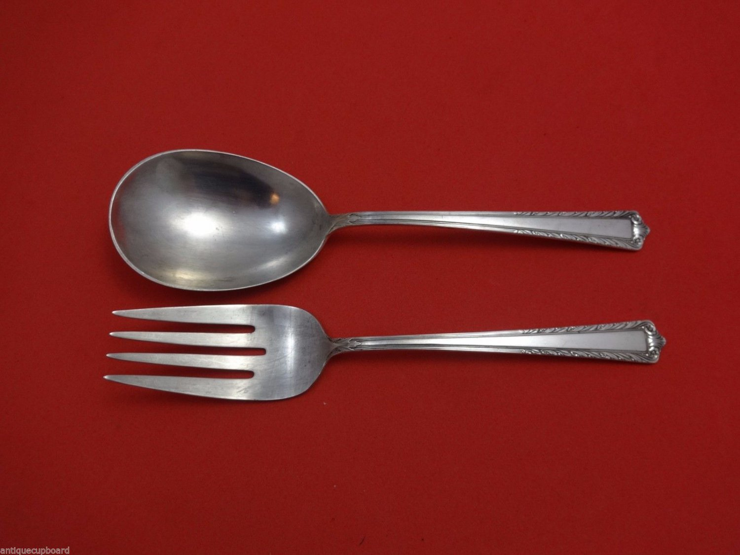 Processional by International Sterling Silver Salad Serving Set 2pc 9 1/4""