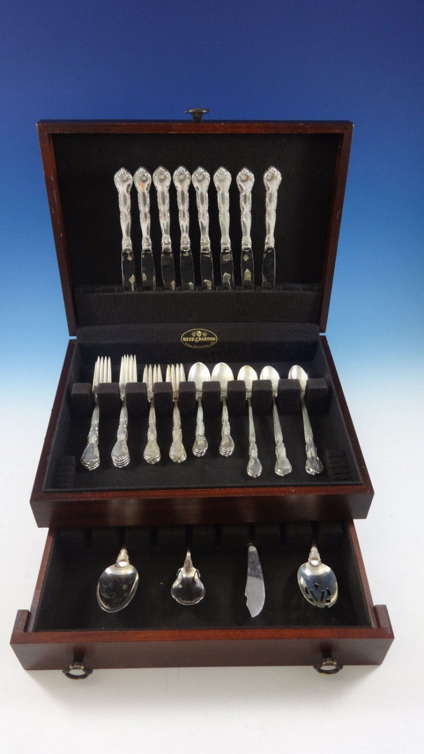 Mignonette by Lunt Sterling Silver Flatware Set For 8 Service 44 Pieces