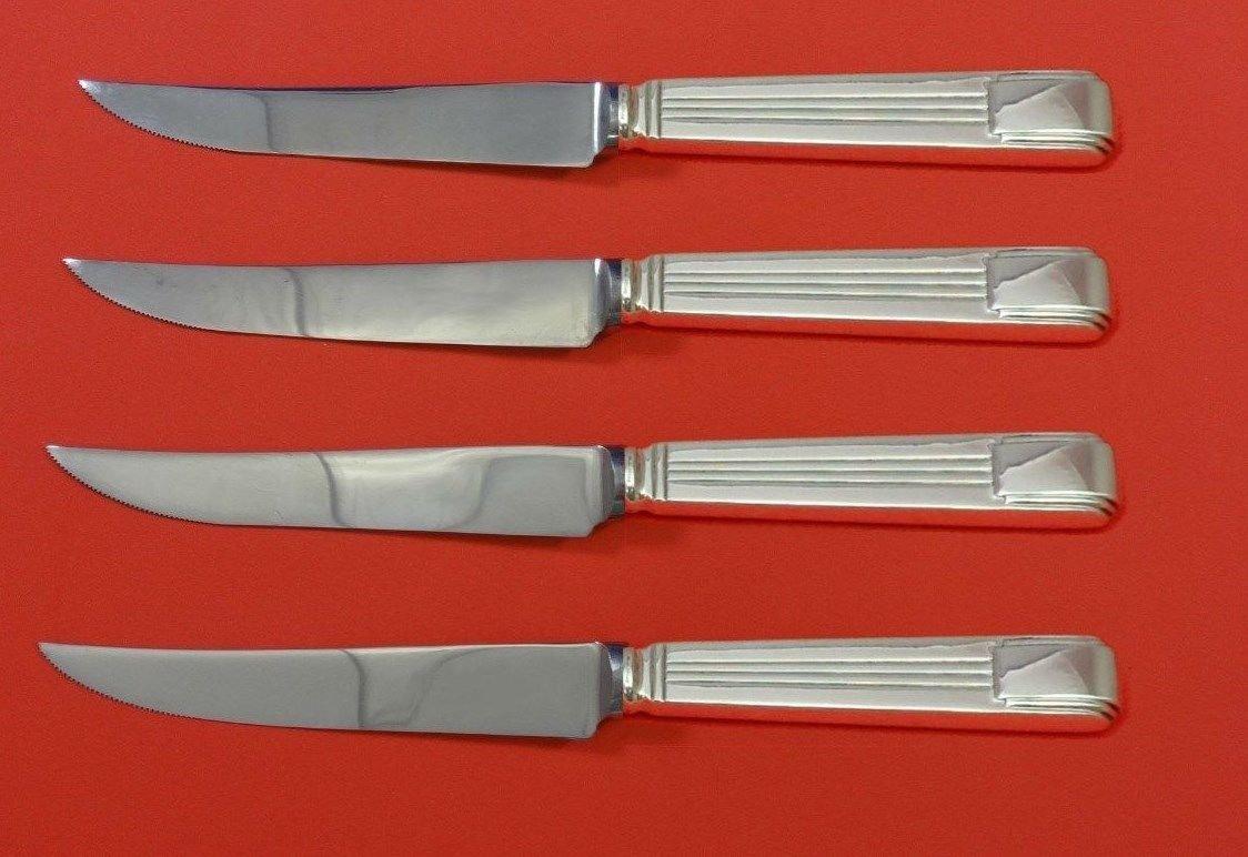 """Century by Tiffany & Co. Sterling Silver Steak Knife Set 4pc 8 1/2"""" Custom"""