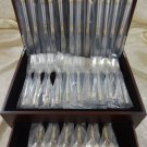 Aegean Weave Gold by Wallace Sterling Silver Flatware Set Service 60 Pieces New