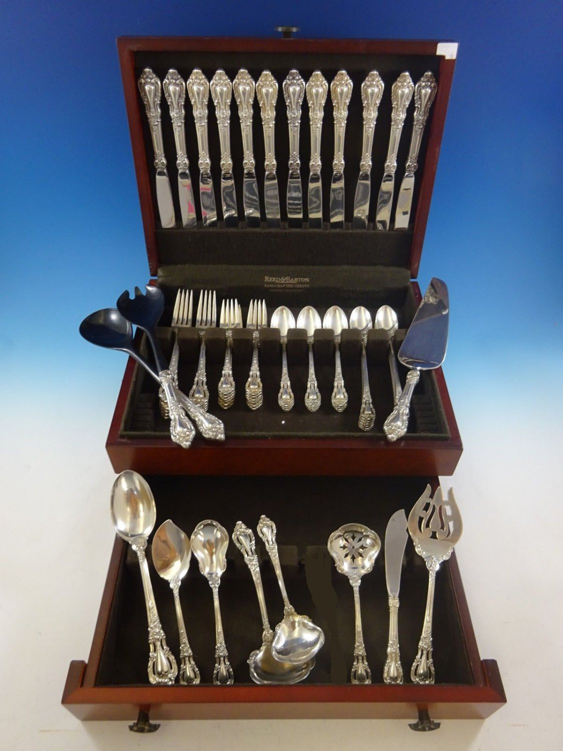 Eloquence by Lunt Sterling Silver Flatware Set 12 Service 71 Pcs Dinner Size