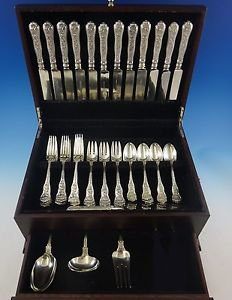 Olympian by Tiffany and Co Sterling Silver Flatware Set For 12 Service 52 Pieces