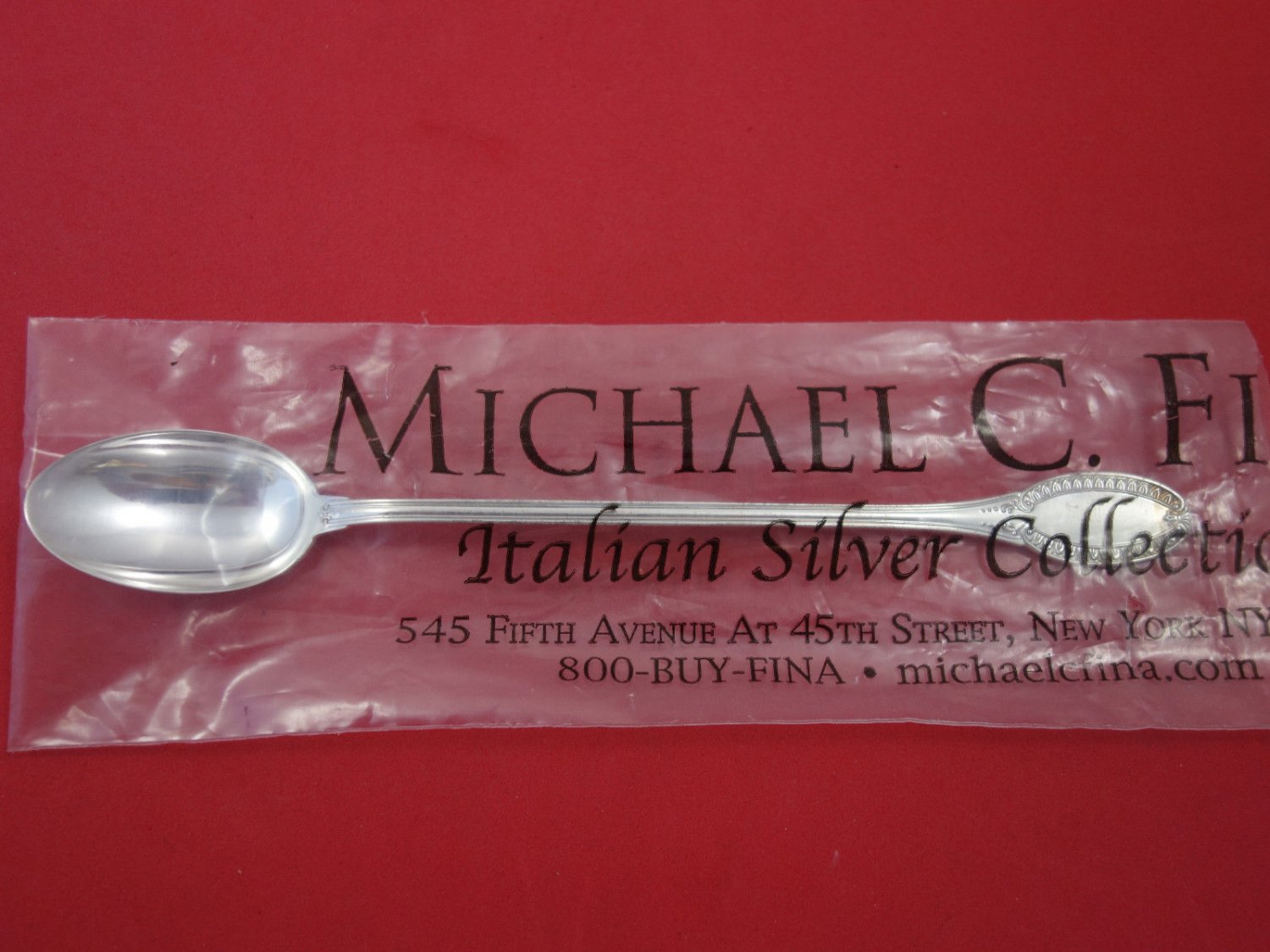 "Impero By Calegaro Sterling Silver Iced Tea Spoon 7 1/2"" New"