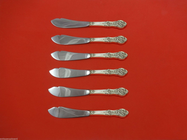 "Springtime by International Sterling Silver Trout Knife Set 6pc Custom 7 1/2"""