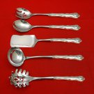 New Queens by Durgin Sterling Silver Hostess Set 5pc HHWS  Custom Made