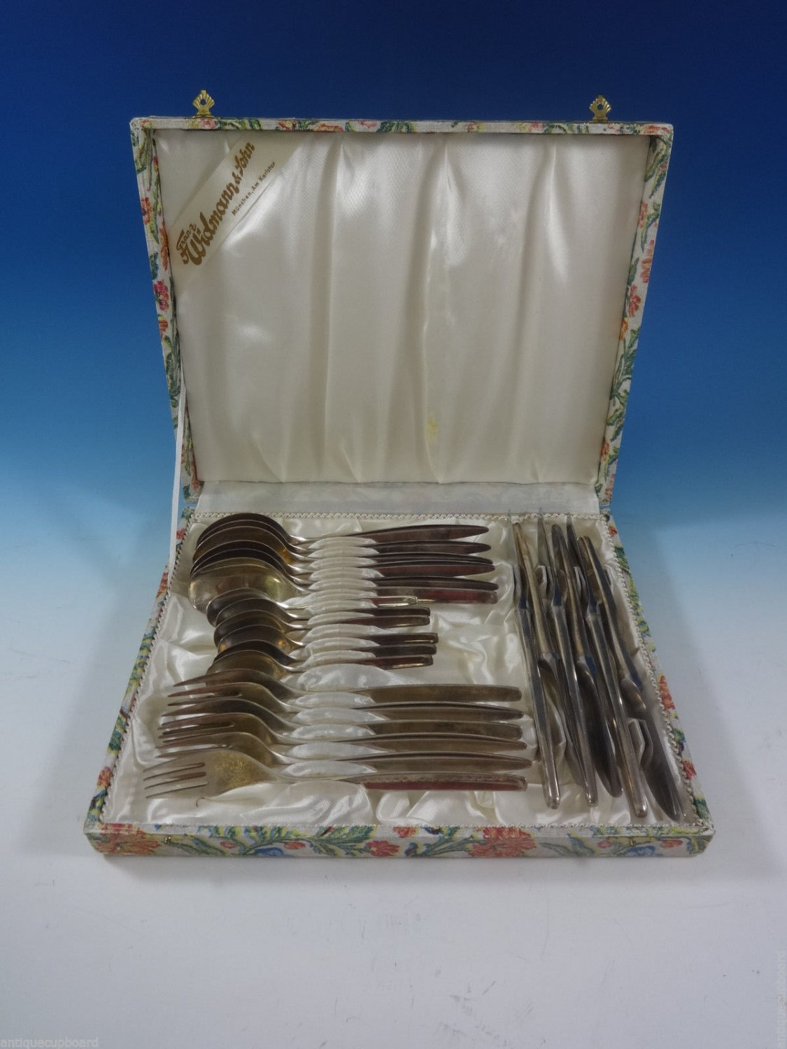 800 Silver Wmf #193 Flatware Set Service Dinner Size 24 Pieces In Vintage Box