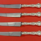 Irian by Wallace Sterling Silver Steak Knife Set 4pc HHWS  Custom Made 8 1/2""