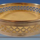 "Shreve Sterling Silver Wine Coaster with Insert #3162 1 3/4"" X 4 3/4"" (#1215)"