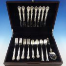 Alencon Lace by Gorham Sterling Silver Flatware Set For 8 Service 42 Pieces