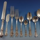 Violet by Whiting Sterling Silver Flatware Dinner Set For 12 Service 110 Pieces