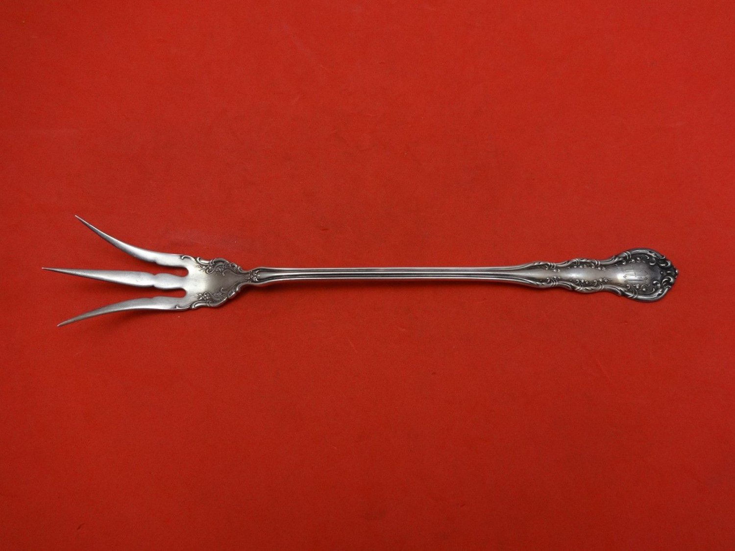 Old Atlanta by Wallace Sterling Silver Lettuce Fork 8 1/2""