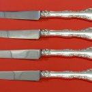 Alencon Lace by Gorham Sterling Silver Steak Knife Set 4pc HHWS  Custom 8 1/2""