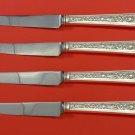 """Windsor Rose by Watson Sterling Silver Steak Knife Set 4pc HHWS  Custom 8 1/2"""""""