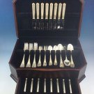 Malmaison Gold Accent by Christofle Sterling Silver Flatware Set Dinner 48 Pcs