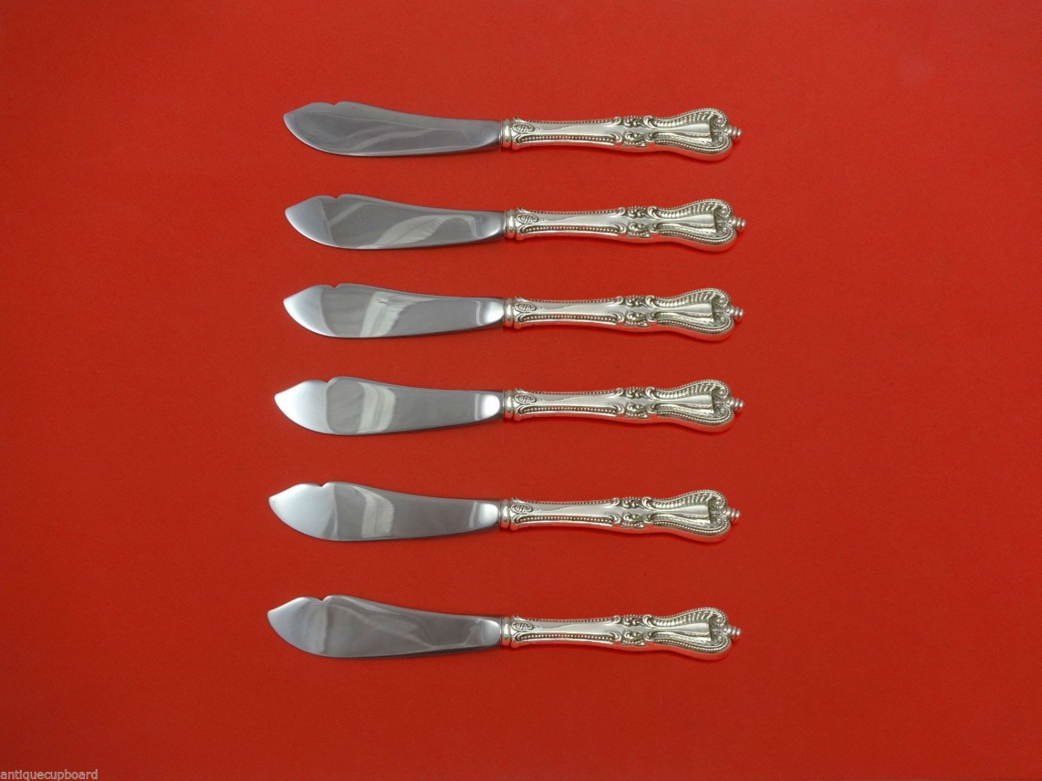 Old Colonial by Towle Sterling Silver Trout Knife Set 6pc. HHWS  Custom 7 1/2""