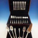 Modern Victorian by Lunt Sterling Silver Flatware Set For 8 Service 46 Pieces