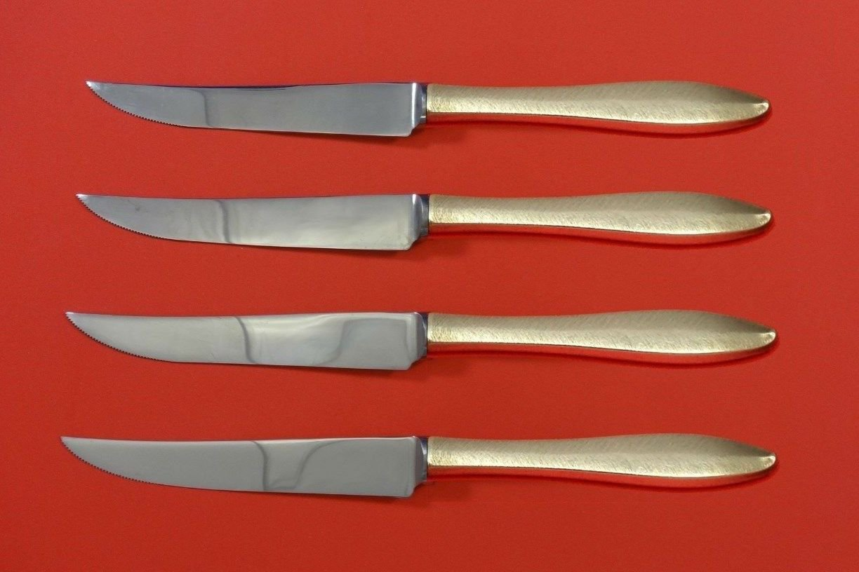 Rsvp by Towle Sterling Silver Steak Knife Set 4pc HHWS  Custom Made 8 1/2""