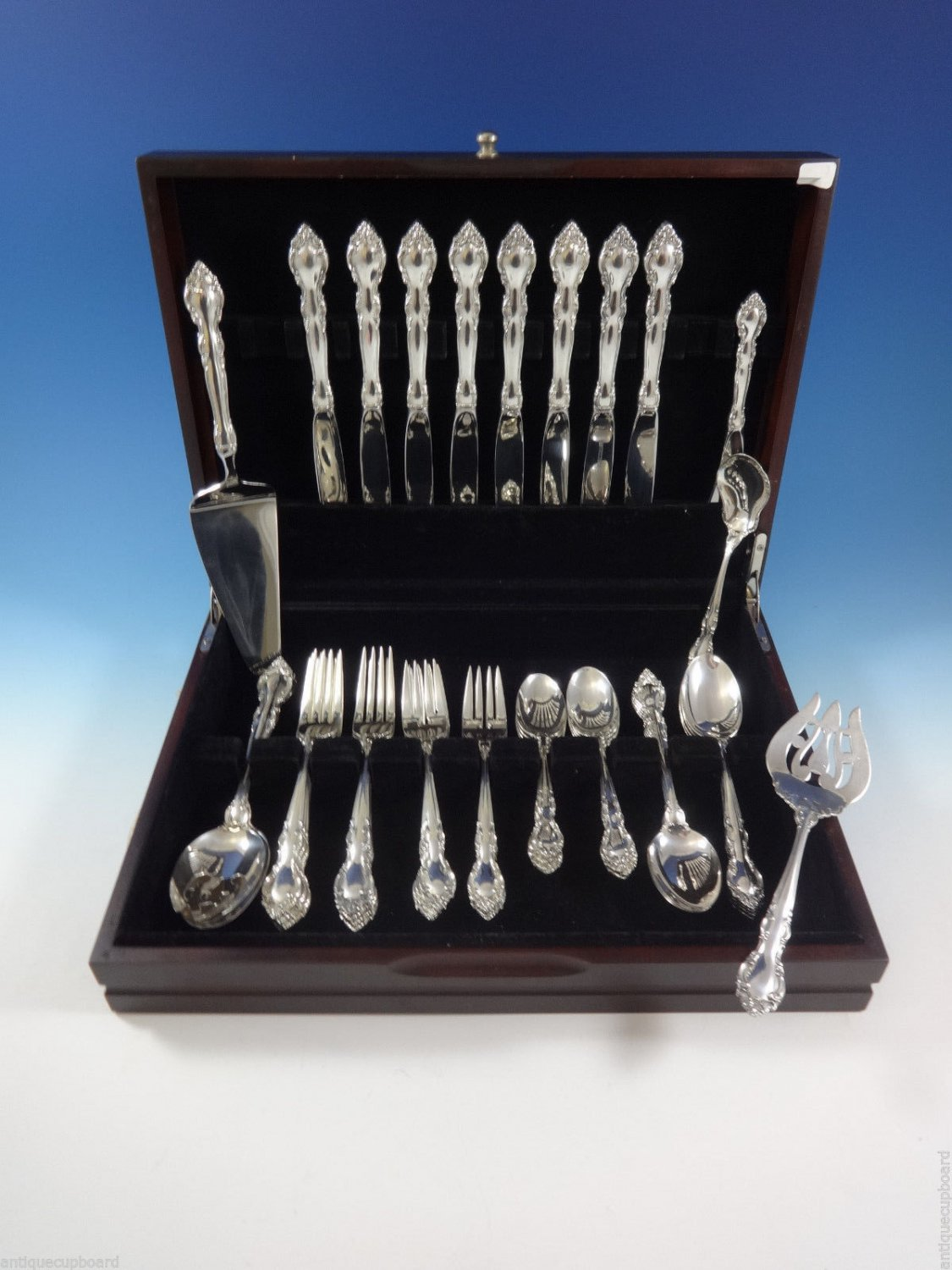 Malvern by Lunt Sterling Silver Flatware Set For 8 Service 45 Pieces