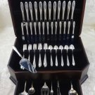 Sculptured Rose by Towle Sterling Silver Flatware Set For 12 Service 67 Pieces