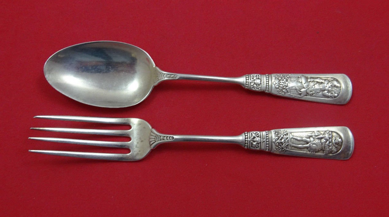 Fontainebleau by Gorham Sterling Silver Junior Set 2pc Spoon and Fork 5 7/8""