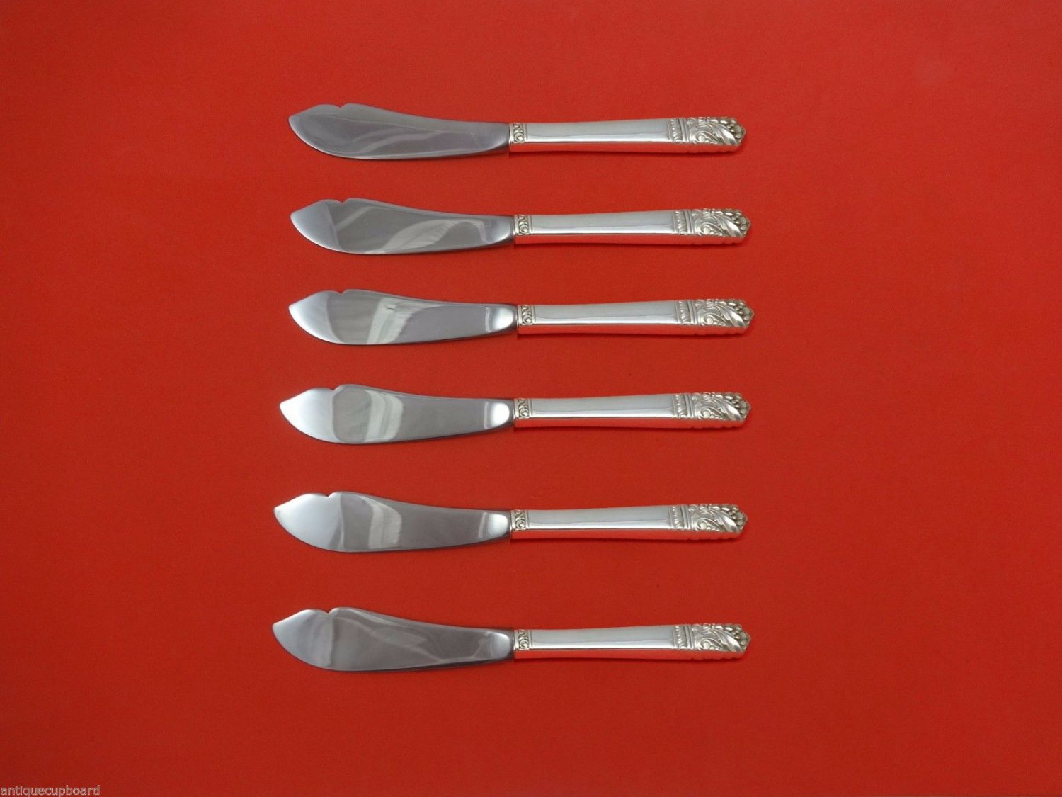 """Mansion House by Oneida Sterling Silver Trout Knife Set 6pc. HHWS  Custom 7 1/2"""""""