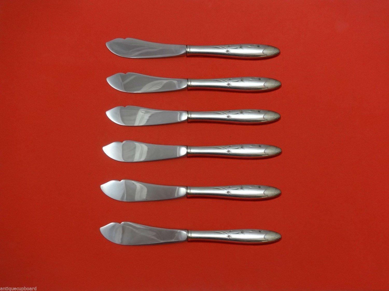 "Celeste by Gorham Sterling Silver Trout Knife Set 6pc. HHWS  Custom Made 7 1/2"""
