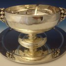 Sanborns Mexican Sterling Silver Punch Bowl with 3-D Grapes & Leaves (#0199)